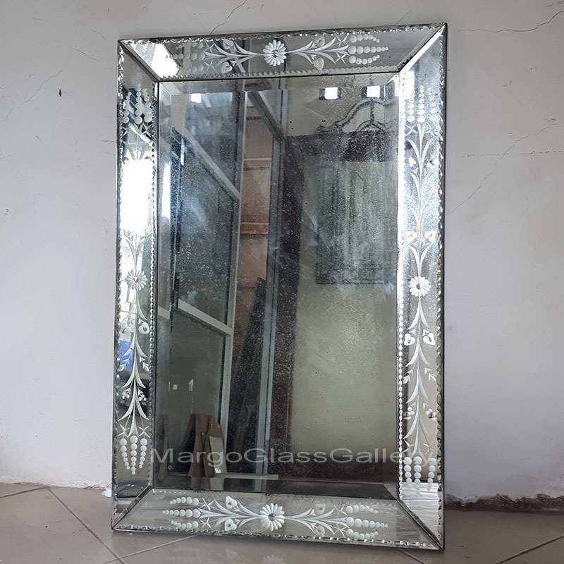 Antique Venetian Mirror Rectangle Mg 014004 Antique Mirror Style Manufacture Wholesale