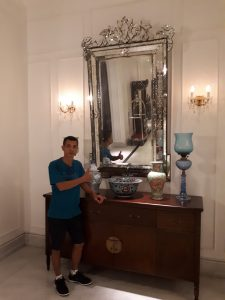 Antique Venetian Mirror in Plataran Holel and resort